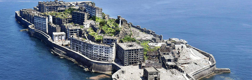 Hashima : ile aux paysages de carte postale